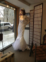 Gorgeous vintage style mermaid wedding dress