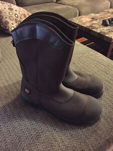 Timberland laceless steel toes size 12. Never worn