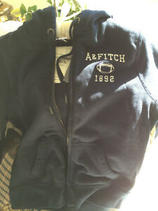 Abercrombie & Fitch Women's navy football hoodie. Super soft!