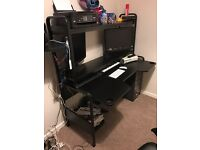 Black Ikea desk station - Freddie
