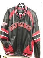 Men's leather Detroit Red wings bomber XL