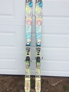 Roxy Twin Tip Skis and Salamon Boots
