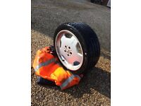 Four Mercedes AMG alloy wheels with tyres