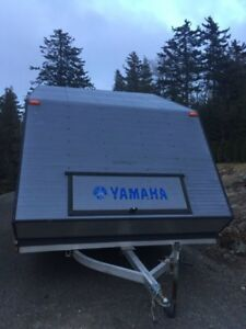 Enclosed Snowmobile Clamshell 12' Trailer