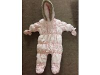 Next Floral Pramsuit - Up to 1 month