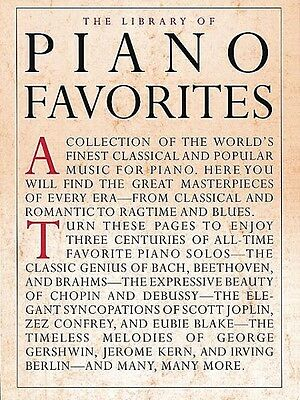 Library of Piano Favorites Sheet Music Book NEW 014019052
