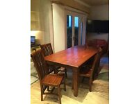 Mahogany table and eight chairs for sale