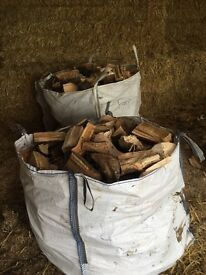 Hard wood seasoned split logs 50 pound per bag free local delivery