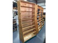 Display pine shelving , racking , retail stands