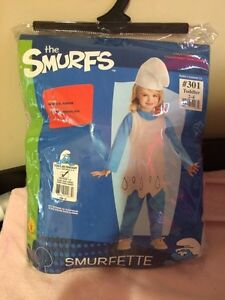 Toddler Smurfette costume *new*