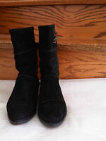 Bally Black Genuine Suede boots – made in Italy Size : 35