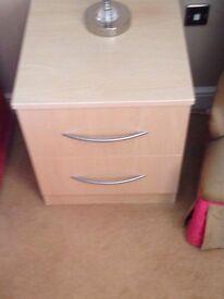 2 draw bedside cabinet