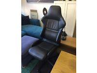 Black leather office chair £30
