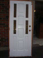 solid wood exterior door and jam