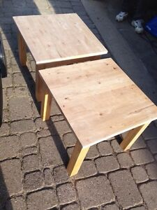 Pair of IKEA Solid wood END TABLES, great shape, both for $35