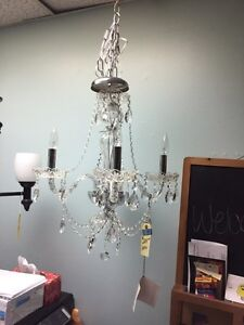 New Crystal 4 light chandelier Kitchener / Waterloo Kitchener Area image 2