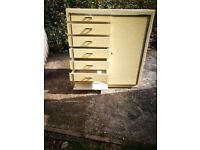 Chest of drawers with door one side