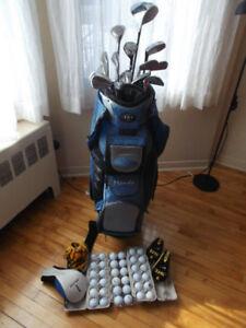 sac de golf ensemble droitier homme ou femme