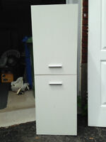 2 Door White Cabinet 14.5 x 47 GOOD CONDITION