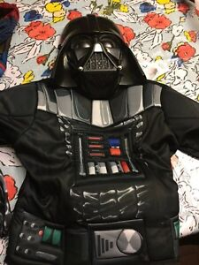 Darth Wader Costume one size fits age 4-6