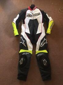 Alpinestars leathers 1 piece suit motorbike