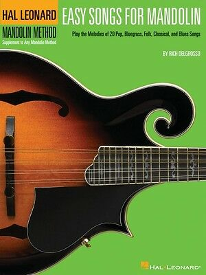 Easy Songs for Mandolin Sheet Music Supplementary Songbook to the Hal  000695865