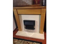 Fire and surround excellent condition perfect working order 3 different setting free local delivery