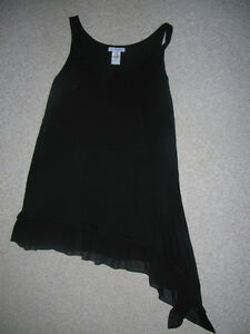 Penningtons - Black Bathing Suit Cover Up. Sheer Bottom. Strathcona County Edmonton Area image 1