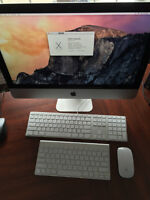 2014 Apple iMac 21.5 inch with 4 year extended warranty