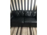 3&2 seater leather settee