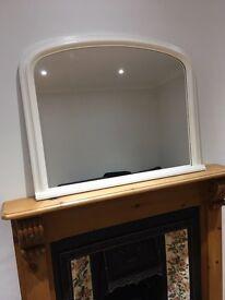 NEXT cream painted mirror