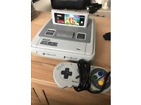 Super Nintendo snes and game