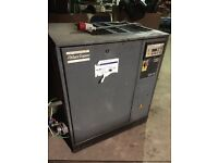 Atlas copco Ga15 screw compressor purchased for a job that never materialised, can be shown powered