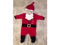 Santa suit costume 0-3 months