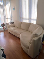 Real leather couch made in Sweden for sale