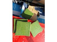 Beautiful green kitchen tiles 7.5M new boxed