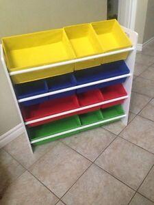 Toy organizer bins
