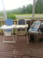 Fisher Price and Graco High chairs