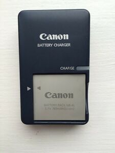 Canon battery & charger NB 4L