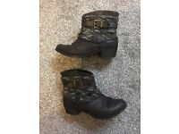 Ladies size 5 black boots - 2 pairs