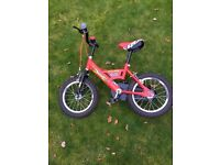 Kids first peddle bike with stabilisers - Gone