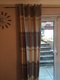 2 pairs of quality lined curtains from leekes.
