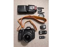 Canon 60D DSLR Camera With Lens, Flash & Bag