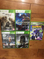 5 Xbox 360 games for sale. All 5 for $10 and not each.
