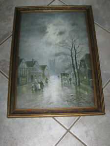 ...Heart-Warming Old English Print by J.W.Gozzard [Signed]...