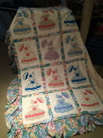 GIRLS TWIN BED QUILT