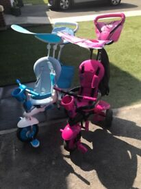 Boys and girls trikes