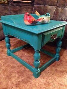 Gorgeous Vintage Table in Custom Teal.