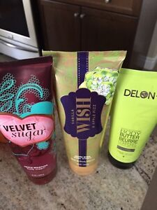Bath and body works scrubs and lotions