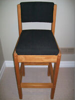 Wood Bar/Counter Chairs - Mint Condition Pair!